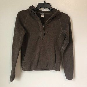 THE NORTH FACE Brown Hooded Button Sweater